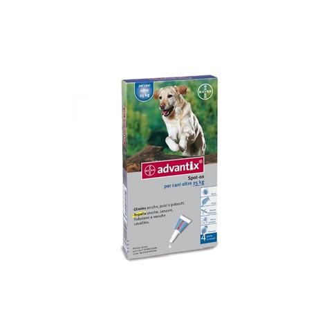 ADVANTIX SPOT ON*soluz 4 pipette 4 ml 400 mg + 2.000 mg canida 25 a 40 Kg
