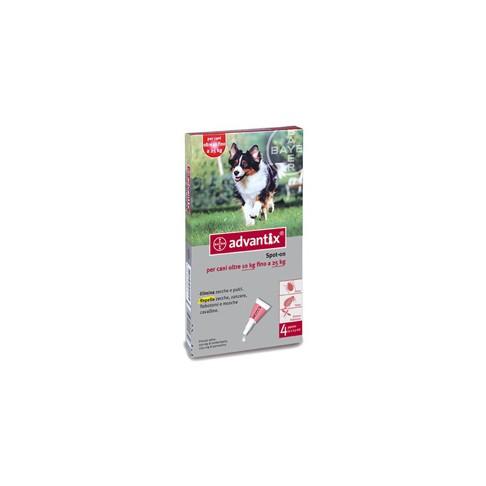 ADVANTIX SPOT ON*soluz 4 pipette 2,5 ml 250 mg + 1.250 mg cani da 10 a 25 Kg